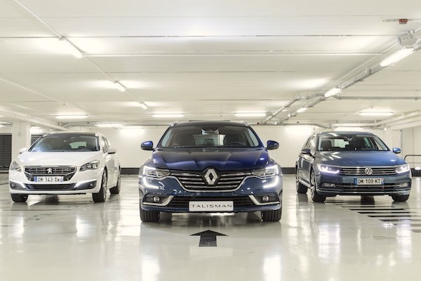 Renault Talisman France May 2016. Picture courtesy largus.fr