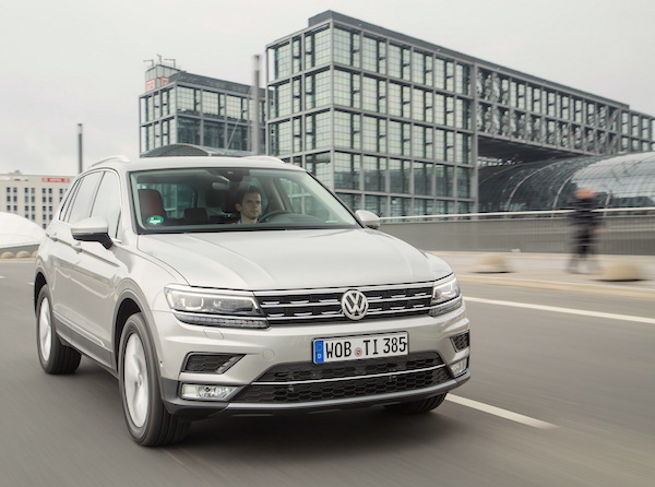 VW Tiguan Belgium May 2016. Picture courtesy largus.fr