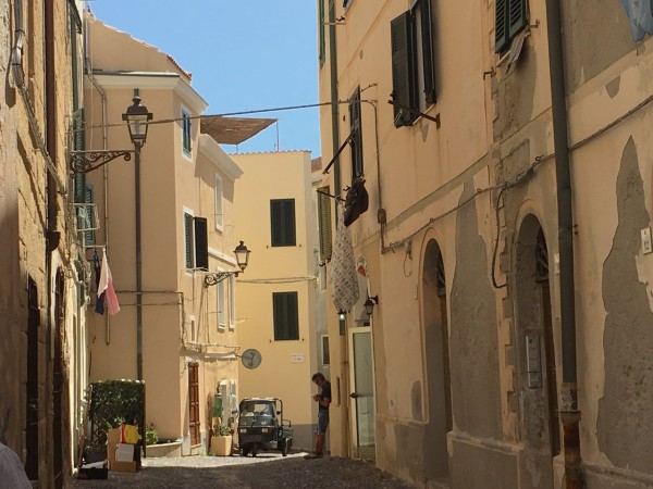 Alghero street scene Sardinia
