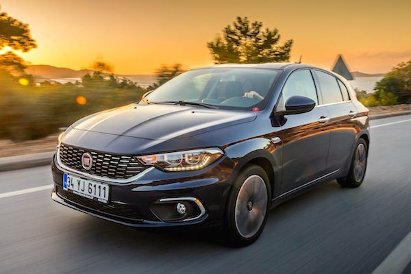 Fiat Egea Turkey July 2016. Picture courtesy ototest.tv