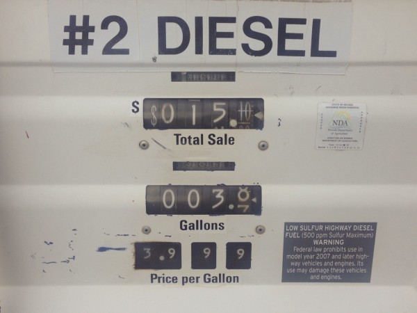 Diesel price Middlegate NV