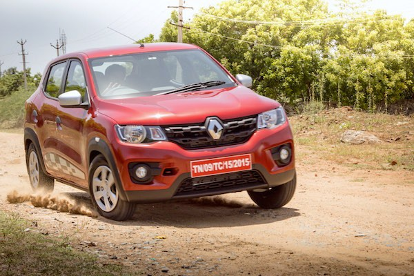 Renault Kwid India August 2016. Picture courtesy motorbeam.com