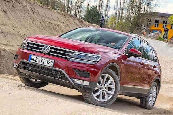 VW Tiguan Switzerland August 2016. Picture courtesy auto.ndtv.com