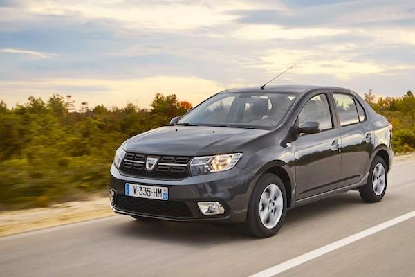 Dacia Logan Romania 2016. Picture courtesy autodato.com