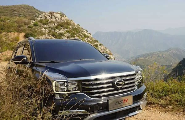 GAC Trumpchi GS8 China December 2016