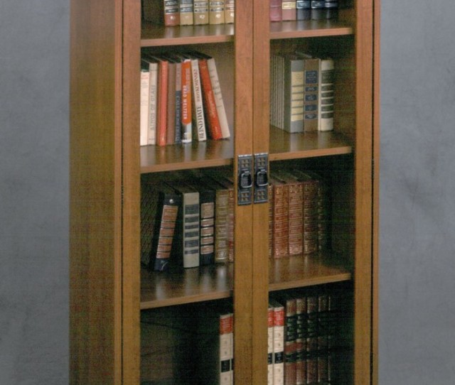 4 Altra Glass Door Bookcase