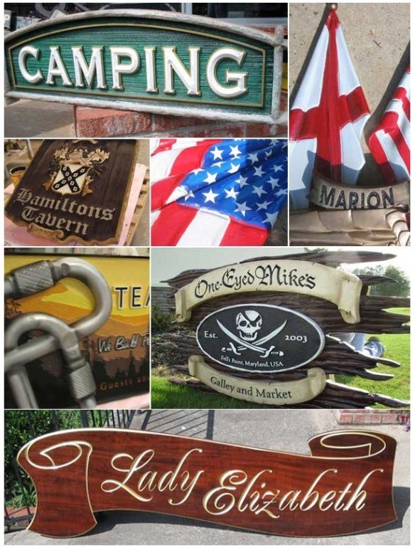 Hand-Carved Signs & Displays