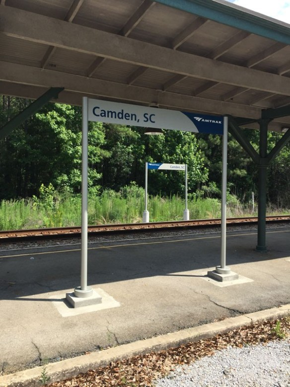 Amtrak Camden, SC Station Location Markers