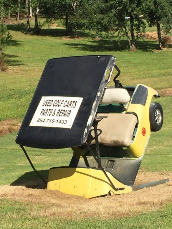 Used Golf Carts Funny Sign