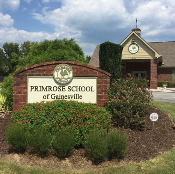 Primrose Schools Sign Monument After