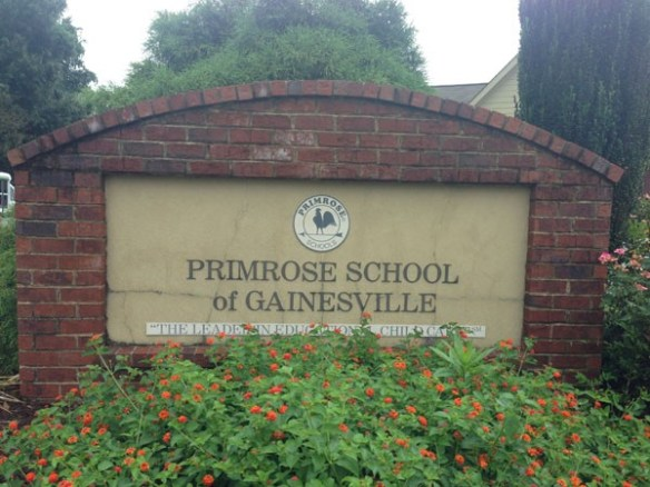 Primrose Schools Sign Monument Before