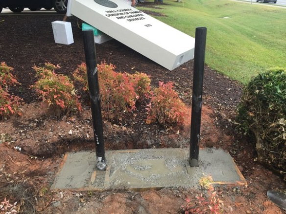 Sign Monument Concrete Slab & Footer Installation