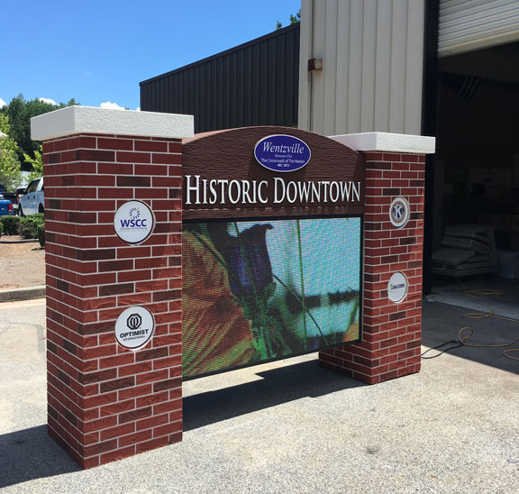Wentzville Sign Monument with Full-Color LED