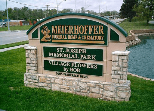 Meierhoffer Funeral Home & Crematory Sign Monument
