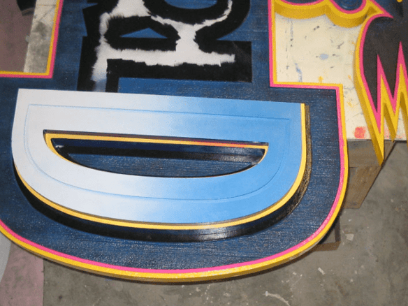 Six Flags Theme Park Waterworn Ride Sign In Production 2