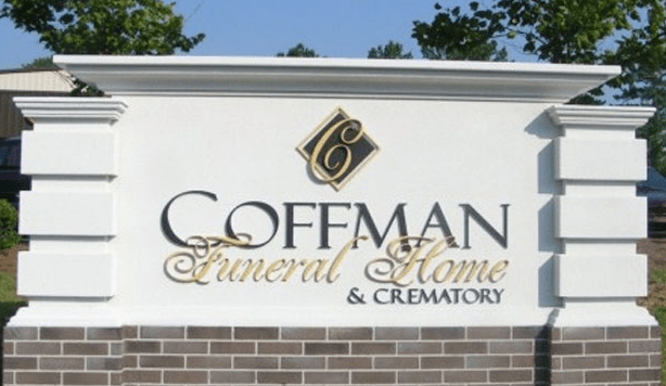 Coffman Funeral Home & Crematory Sign Monument