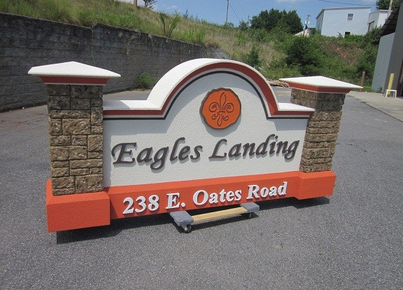 Eagles Landing Neighborhood Sign Monument - Neighborhood Entrance Sign Costs