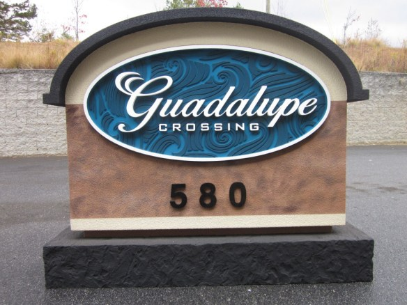 Guadalupe Stone Entrance Sign Monuments Completed Before Shipping