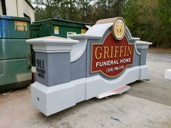 Griffin Funeral Home Sign Monument
