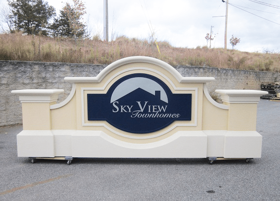 Two Sign Monument Projects With Same Names - Skyview Townhomes Sign Monument Complete