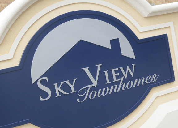 Two Sign Monument Projects With Same Names - Skyview Townhomes Sign Monument Graphics