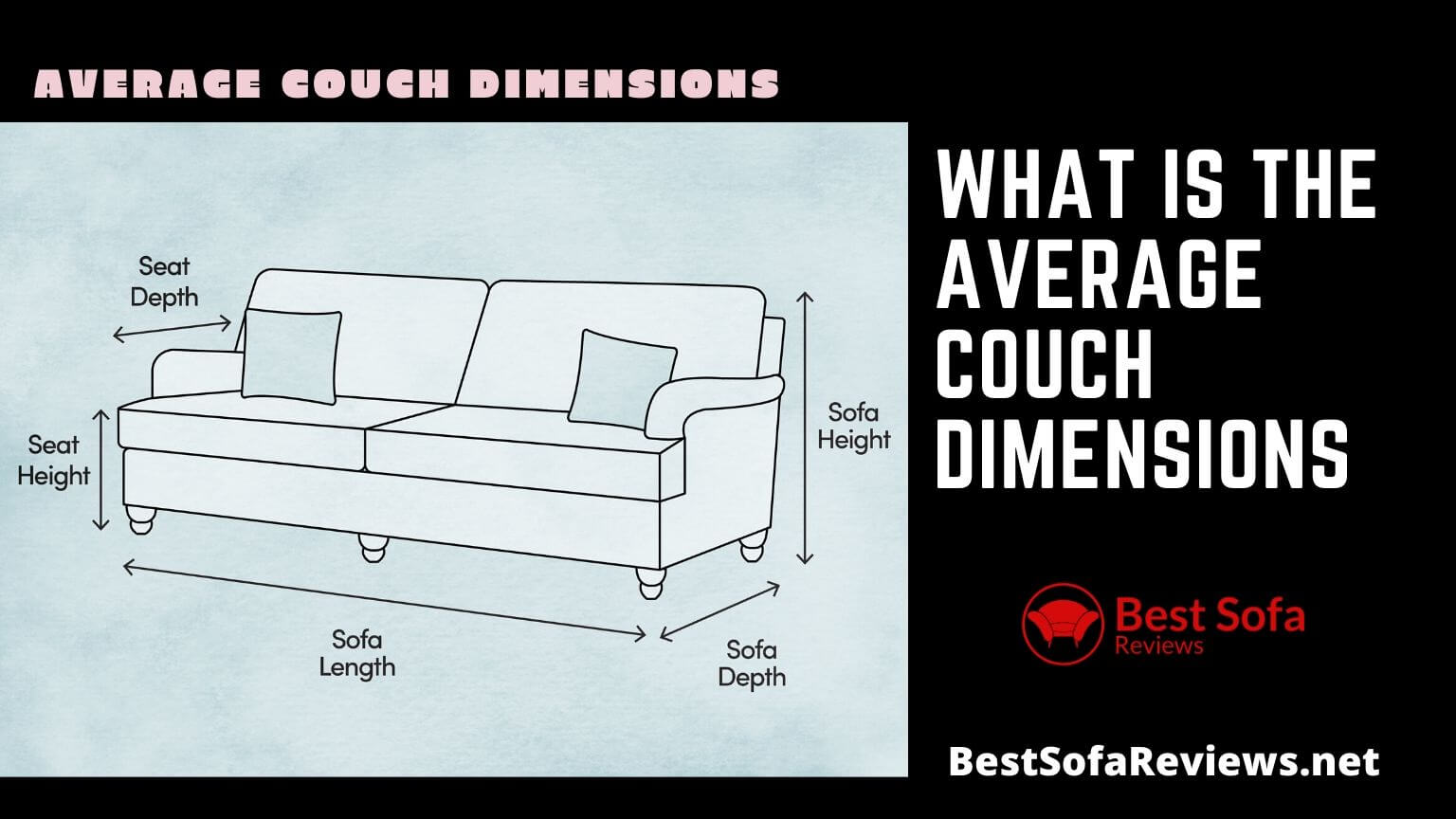 average couch dimensions or how wide is