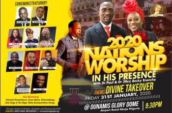Glory Dome Event: Nations Worship In His Presence to host William McDowell, Sinach, Nathaniel Bassey, and others