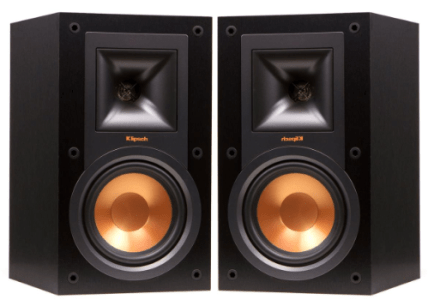 Klipsch R-15M Reference Bookshelf Monitor Speaker Pair (Black)