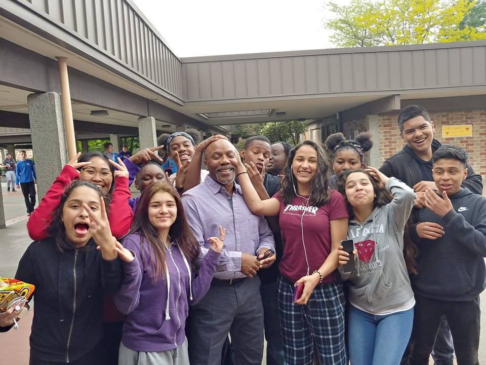 Cascade Middle School Students With Terrell