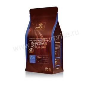 Шоколад (кувертюр) темный Extra Bitter Guayaquil 64%, 5 кг. Cacao Barry