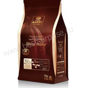 Шоколад кувертюр белый Blanc Satin 29.2%, Cacao Barry 5кг.
