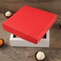 Упаковка (коробка) для 16 конфет с красной крышкой , 5 шт.