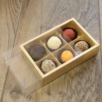 Упаковка (коробка) для 6 конфет с прозрачной крышкой , 5 шт.