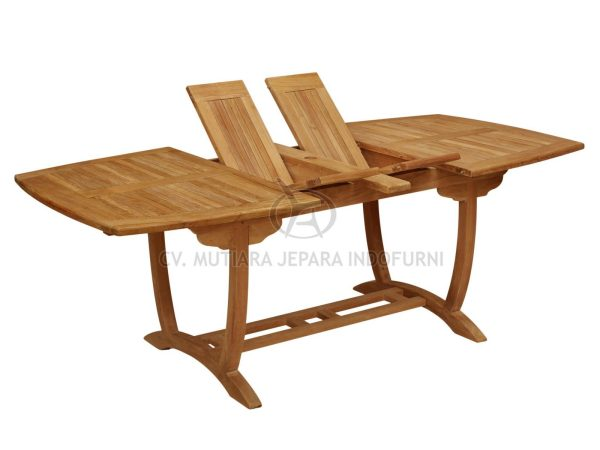 viva double extend table the best teak garden indonesia furniture