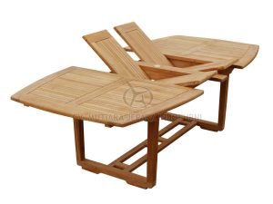 urva double extend table teak garden furniture