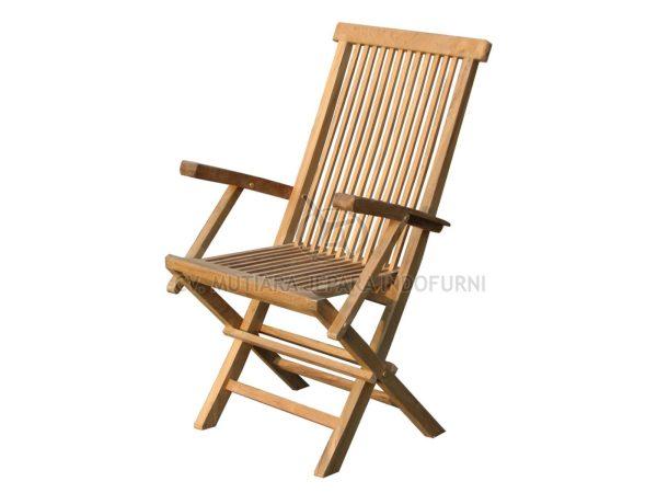 Classic Folding Arm Chair High Back