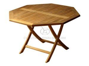 Classic Octagonal Folding Table 120CM