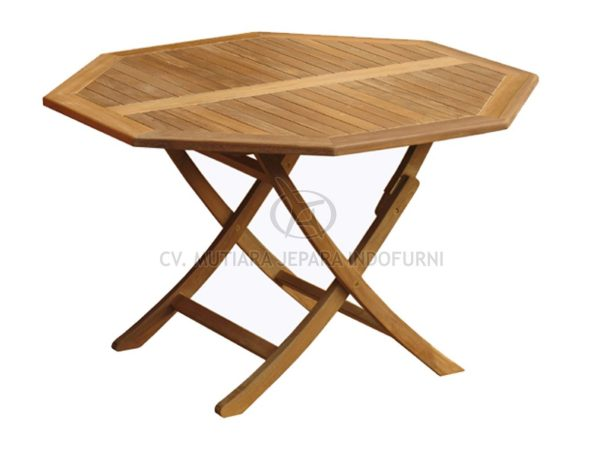 Octagonal Easy Fold Table 120CM