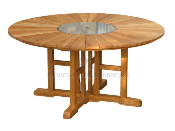 Round Matahari Fixed Table 130