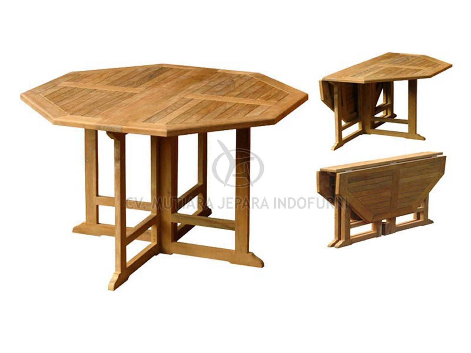 Octagonal Gateleg Table 6 - Indonesia Furniture Manufacturer