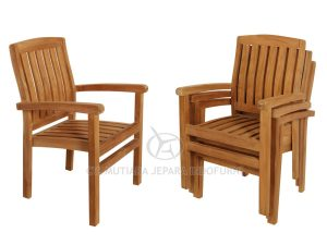 Marley Stacking Arm Chair Wideslat