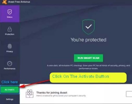 Avast Antivirus Activation Code 2017