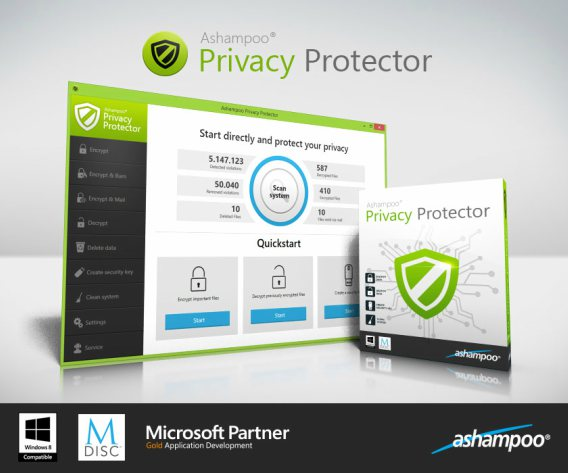 Ashampoo Privacy Protector License Key 2019 Free for 1 Year