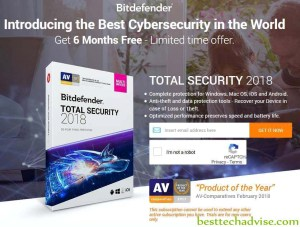 Bitdefender Total Security 2018 Free 6 Months License Key