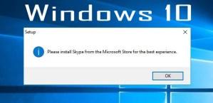 Install Skype in Windows 10 from Offline Installer