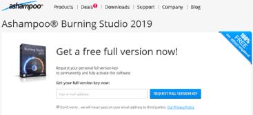 Ashampoo Burning Studio 2019 Serial Key Giveaway