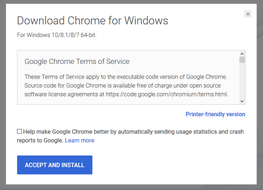 chrome installer for pc free download