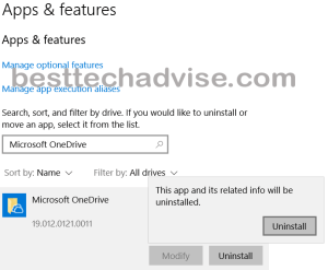 Remove OneDrive From Windows 10 PC
