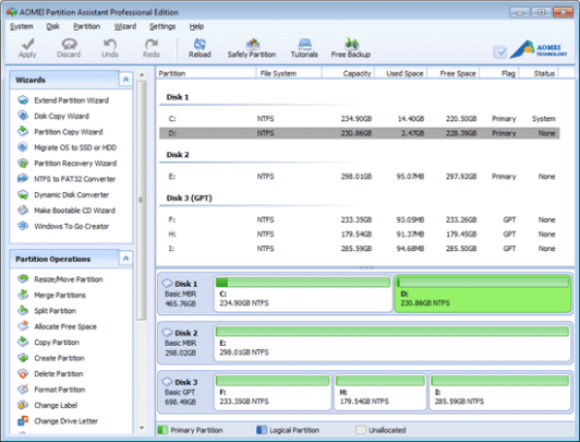 Aomei Partition Assistant Pro Edition License Key Free 2020
