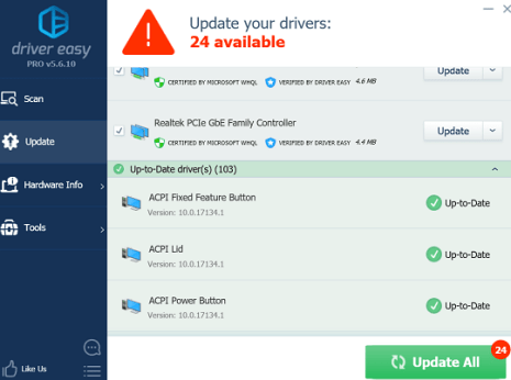 Driver Easy Pro License Key Free for 1 Year Download